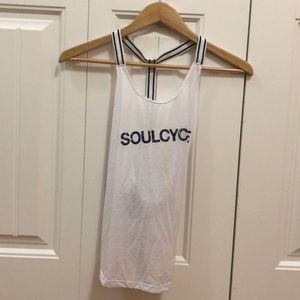 SoulCycle White Tank, Size Small